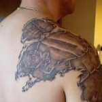 Amazing Armor Shoulder Tattoo Designs