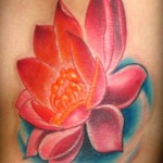 Amazing Pink Lotus Flower Tattoo Designs