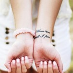 Amazing Quotes Wrist Tattoo Designs For Girls