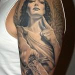 Amazon Angel Half Sleeve Tattoo Designs