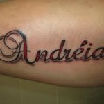 Andreia Name Tattoo Designs
