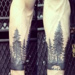 Arm Trees Tattoo Designs