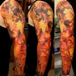 Autumn Full Sleeve Tattoo Designs For Men