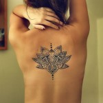 Back Lotus Flower Tattoo  Designs