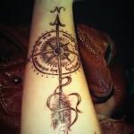 Beautiful Compass Wrist Tattoo For Women