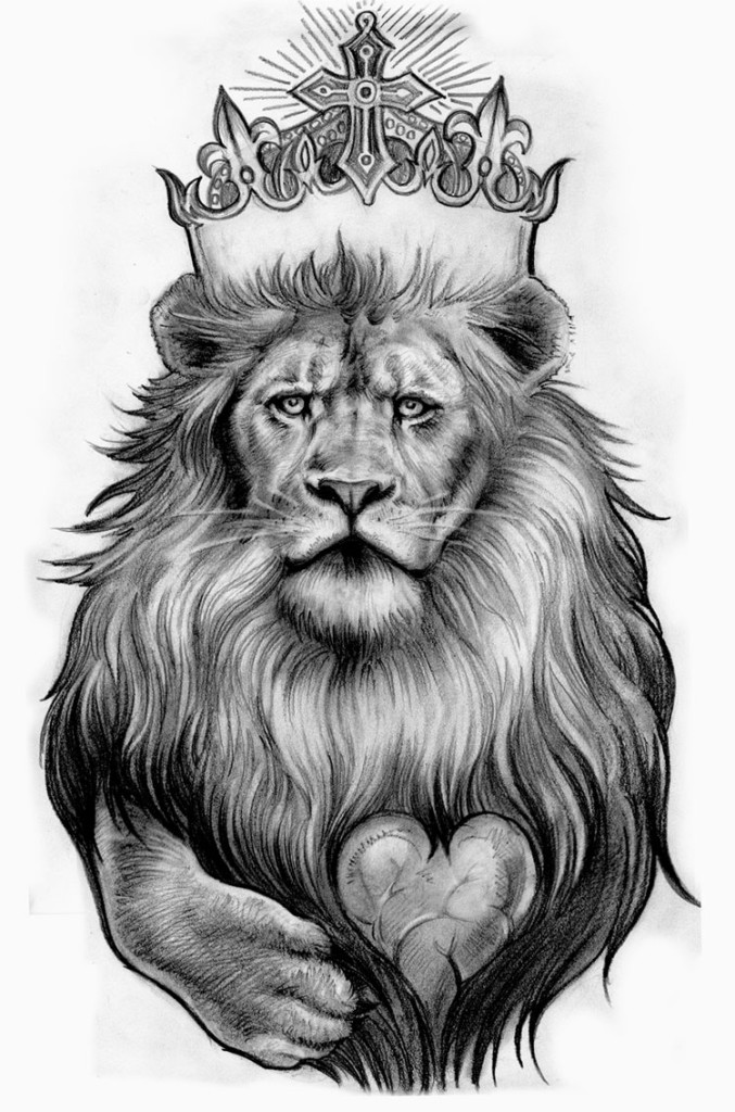 Black And White Lion Cool Tattoo Designs For Men | Tattoo Love