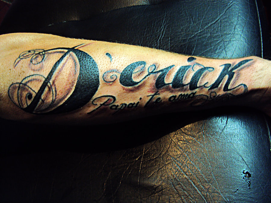 Black Name Tattoo Designs For Men | Tattoo Love