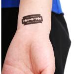 Blade Wrist Tattoo Designs For Girls