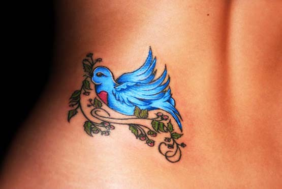 Blue birds tattoo - photo#6