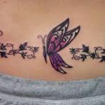 Butterflies Lower Back Tattoo Designs