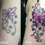 Butterfly Cover  Up Tattoo