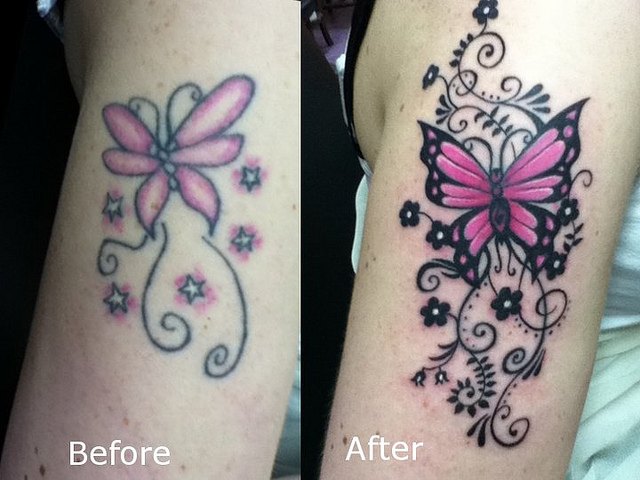butterfly cover up tattoo tattoo love