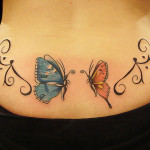Butterfly Lower Back Tattoo Designs