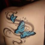 Butterfly Shoulder Art Tattoo Designs