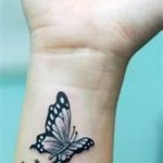 Butterfly Wrist Tattoo Designs For Girls
