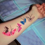 Butterfly Wrist Tattoo Designs For Girls (2)