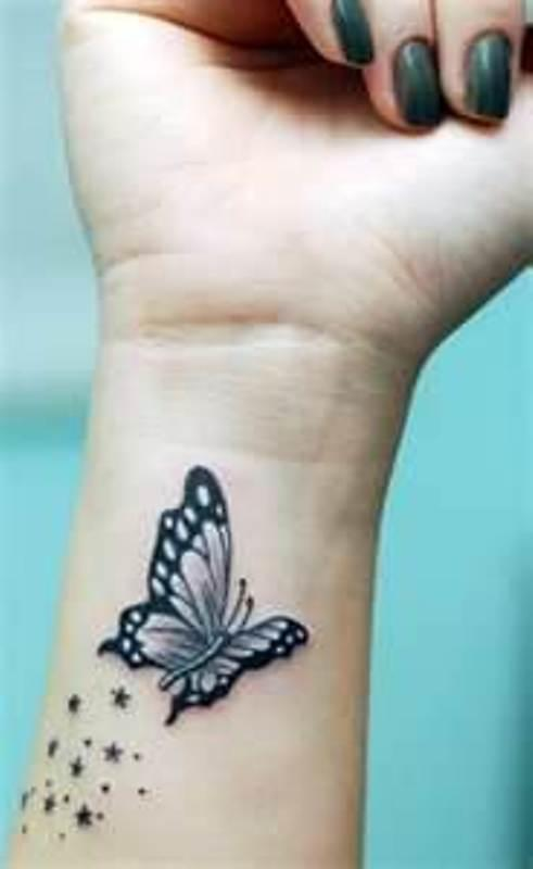 Butterfly wrist tattoo designs for girls tattoo love for Butterfly tattoo wrist designs