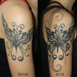 Butterfly coverup tattoo