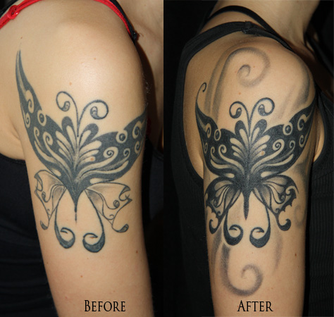 butterfly coverup tattoo tattoo love. Black Bedroom Furniture Sets. Home Design Ideas