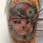 Cat Art Tattoo Designs