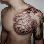 Chest Quotes New Tattoo Designs