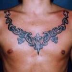 Chest Tribal Tattoo For Men