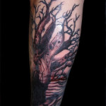 Classic Arm Black Forest Tattoo Designs - Copy