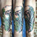 Classic Arm Lion Tattoo Designs