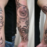 Classic Arm Star Tattoo Designs
