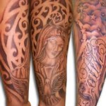 Classic Full Sleeve Religious Tattoo Designs For Men