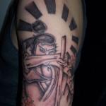 Classic Half Sleeve Samurai Tattoo Designs