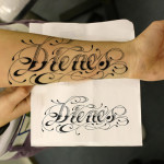 Classic Name Tattoo Designs On Arm
