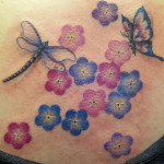 Colorful Dragonfly Tattoo Designs