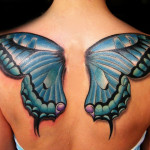 Cool Butterfly Wings Tattoo Designs