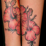 Cool Flower Tattoo Designs on Leg