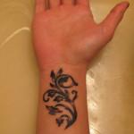 Cool Flower Wrist Tattoo Designs For Girls