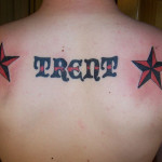 Cool Name Tattoo Designs On Upper Back