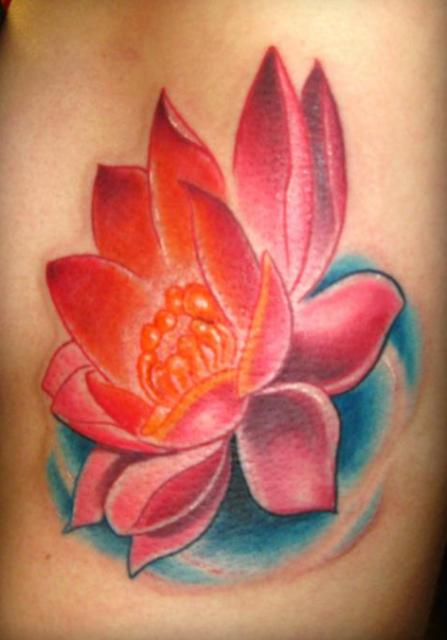 cool red lotus flower tattoo designs tattoo love. Black Bedroom Furniture Sets. Home Design Ideas