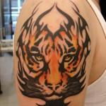 Cool Tiger Shoulder Tattoo Designs