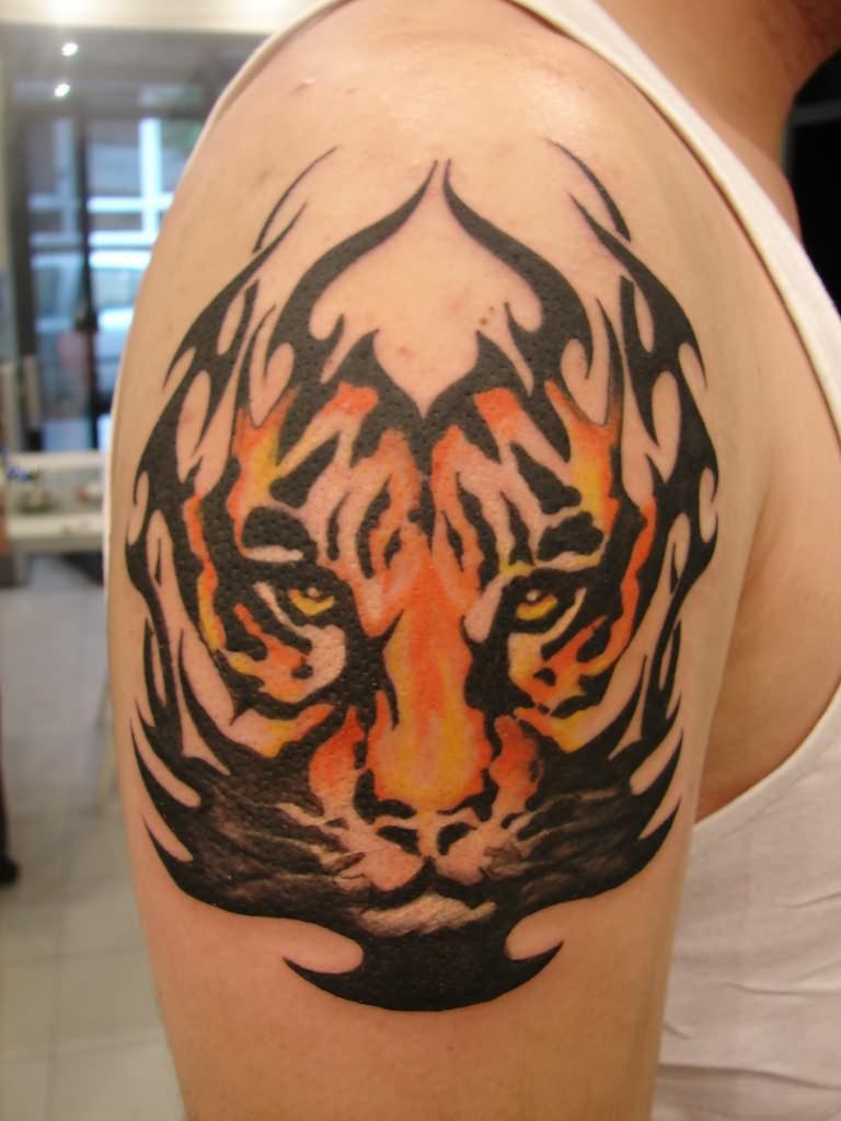 Best tribal tattoo gallery tribal tattoos common tattoo designs women - Cool Tiger Shoulder Tattoo Designs