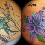 Cover Up Lotus Tattoo
