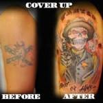 Cover  Up Pirate Tattoo
