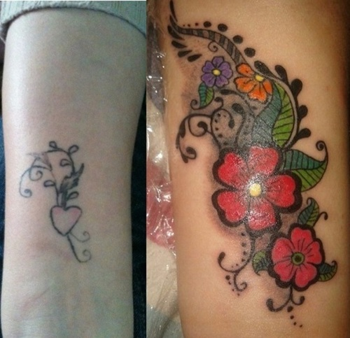 Cover up shoulder tattoo tattoo love for Cover up tattoos for women