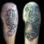 Cover  Up Skull Tattoo