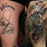 Cover  Up To Mechanical Tattoo