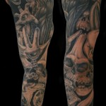Devil Full Sleeve Classic Tattoo Designs For Men