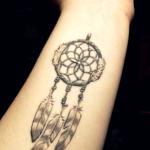 Dream Catcher Wrist Tattoo Designs For Girls