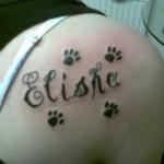 Elisha Name Tattoo Designs