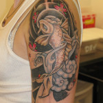 Fish Half Sleeve Tattoo Designs