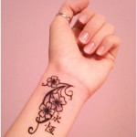 Floral Wrist Tattoo Designs For Women